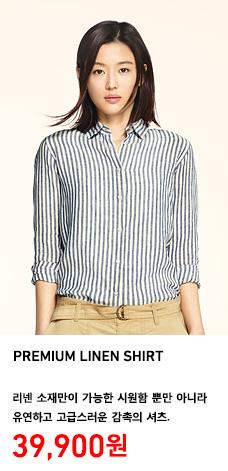 WOMEN PREMIUM LINEN SHIRT 정상가격 39,900원