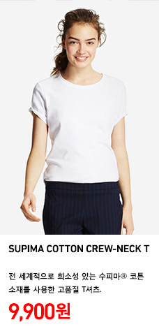 WOMEN SUPIMA COTTON CREW NECK T 정상가격 9,900원