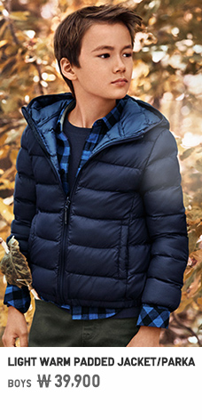 BOYS LIGHT WARM PADDED JACKET/PARKA