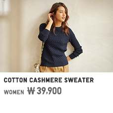 WOMEN COTTON CASHMERE SWEATER 39,900원