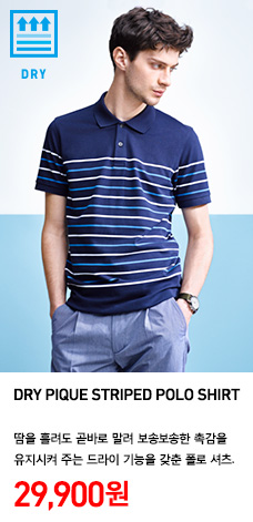 MEN DRY PIQUE STRIPED POLO SHIRT 정상가격 29.900원