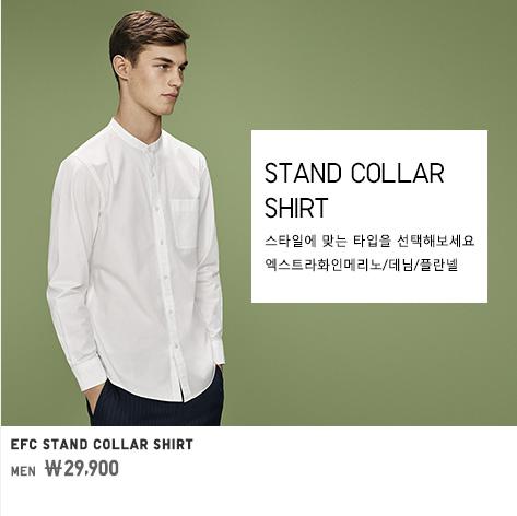 MEN STAND COLLAR SHIRTS