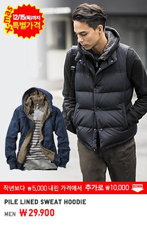 MEN PILE LINED SWEAT HOODIE 12/15까지 29,900원