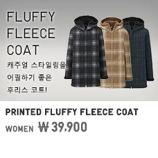 WOMEN PRINTED FLUFFY FLEECE COAT 39,900원