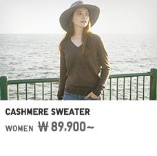 WOMEN CASHMERE SWEATER 89,900원부터