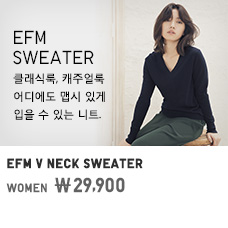 WOMEN EFM V NECK SWEATER