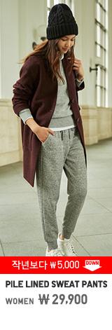 WOMEN PILE LINED SWEAT PANTS 29,900원