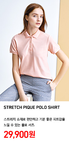 WOMEN STRETCH PIQUE POLO SHIRT 정상가격 29,900원