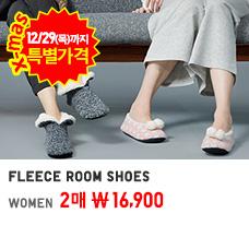 WOMEN FLEECE ROOM SHOES 12/29까지 2매 16,900원