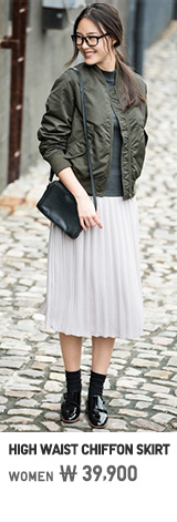 WOMEN HIGH CHIFFON MIDI SKIRT
