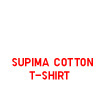 MEN WOMEN SUPIMA COTTON T-SHIRT