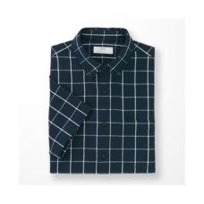 리넨코튼체크시어서커셔츠(반팔)